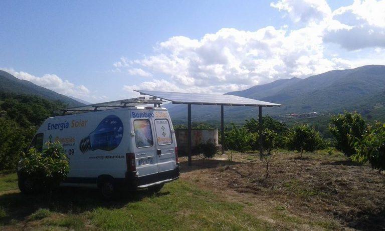 Instalación de Bombeo Solar en el Valle del Jerte